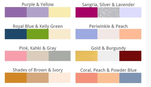 Wedding Color trends