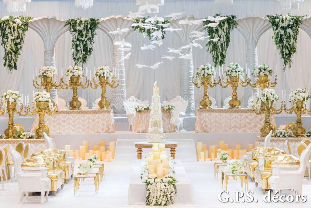 White Gold Glamorous Elegant Wedding Theme Gps Decors