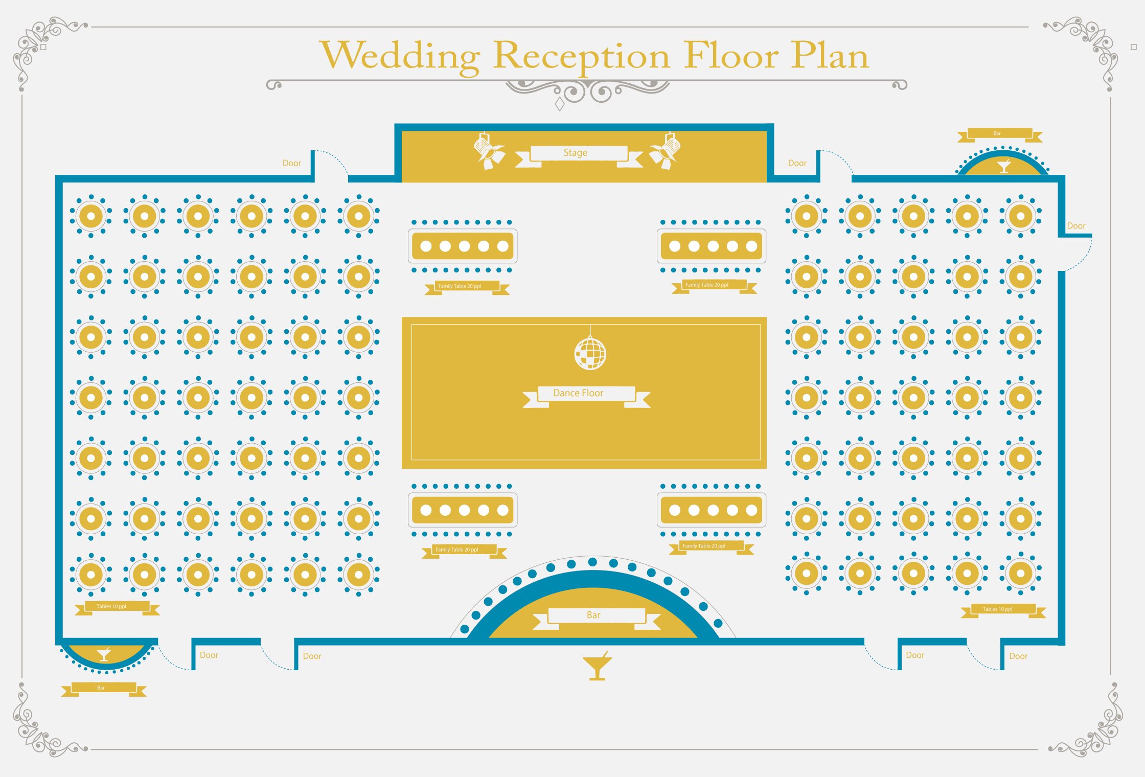 Weeding Reception Floor Plan